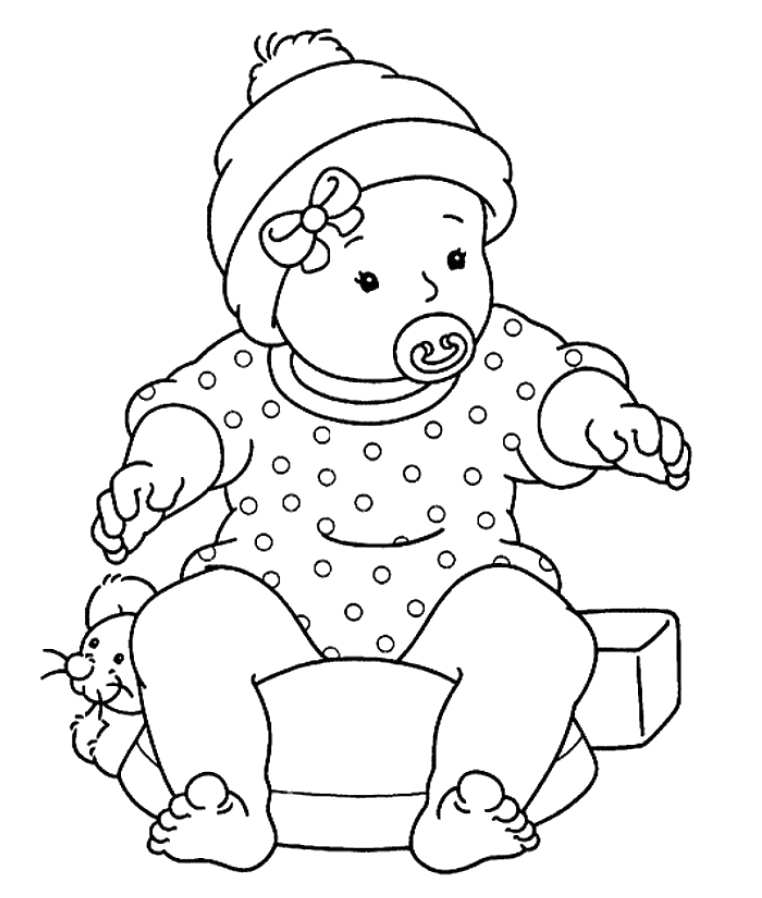 baby doll coloring pages printable - photo#30